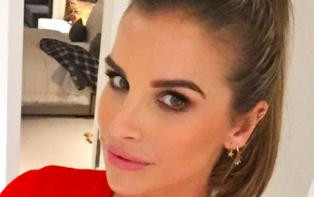 Vogue Williams looks radiant as she shows off her growing baby bump in new snap