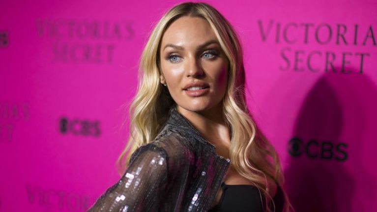 Candice Swanepoel jokes about her huge bump as due date approaches