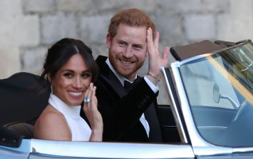 The photo of Meghan and Harry has been removed from the Queen's room