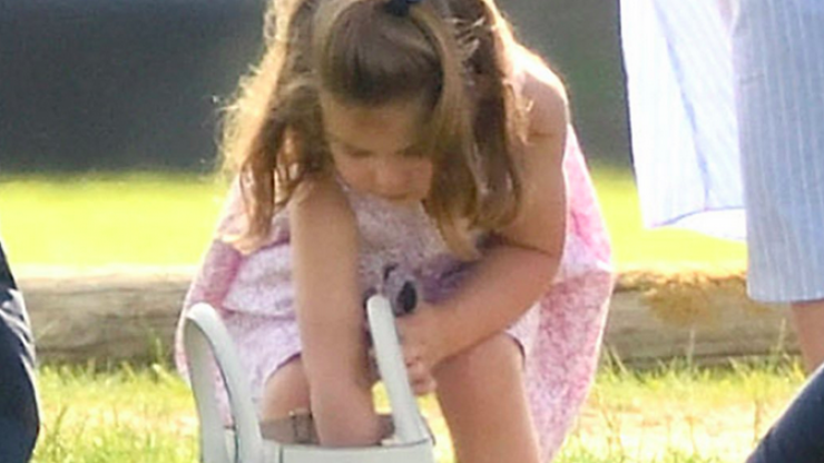 Princess Charlotte digging for treats in her mum's bag is every toddler ever