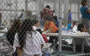 Children are crying for their parents in this recording from a US detention centre