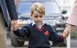 Prince George was really impressed by his dad working with a digger