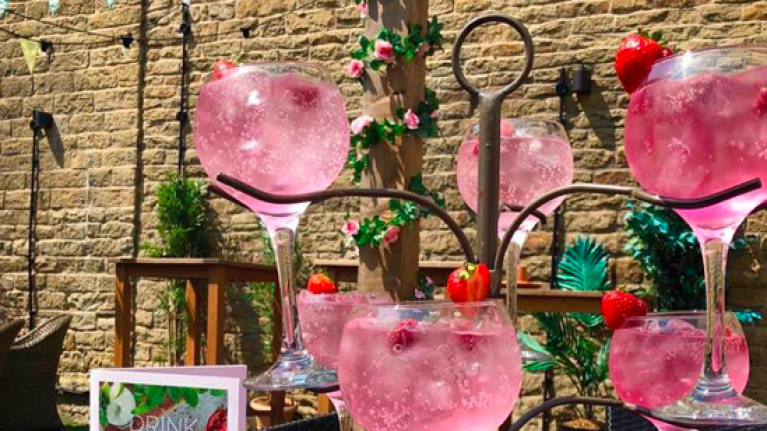 A pink gin tree now exists and it's exactly what we need this summer