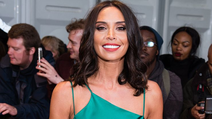 Christine Lampard is NAILING maternity style in this gorgeous Warehouse dress