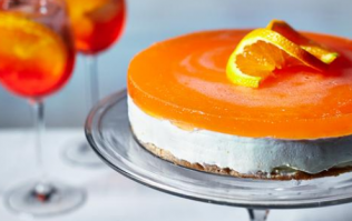 This Aperol Spritz cheesecake is literally the most 2018 cake there is