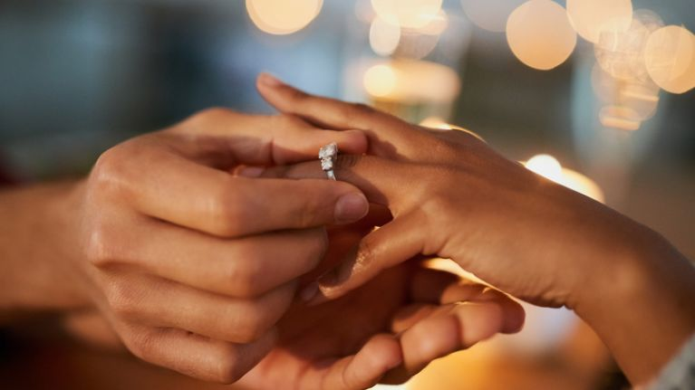 Everyone is going mad for this bride-to-be's engagement photo