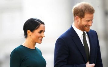Meghan changes into a little black dress for garden party in Dublin