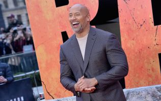 The Rock just posted this video of his daughter we're melting