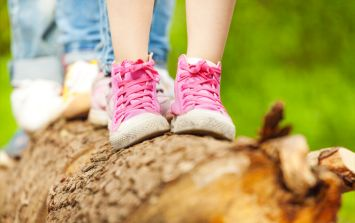 Mum has perfect response when people complain about her son's 'girly' shoes