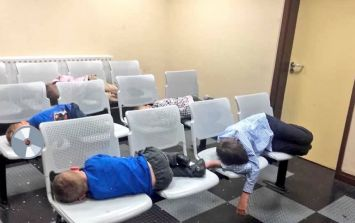 Woman and six children sleep on chairs in Dublin Garda station overnight