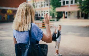 Mum shares heartfelt post about sending her son to school for the first time