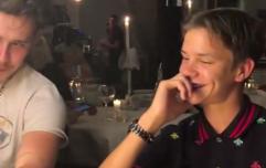 Romeo cringes as Beckham fam and godfather Elton John sing 'Happy Birthday'