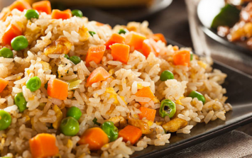 The chicken fried rice that you can make with what's left in the cupboard