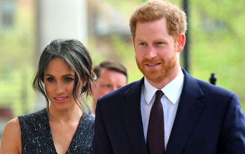 Prince Harry and Meghan Markle bid an emotional farewell at the palace today
