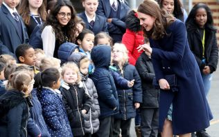 Look at that bump! Duchess Kate is positively blooming