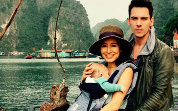 Jonathan Rhys Meyers shares holiday snaps of baby son Wolf