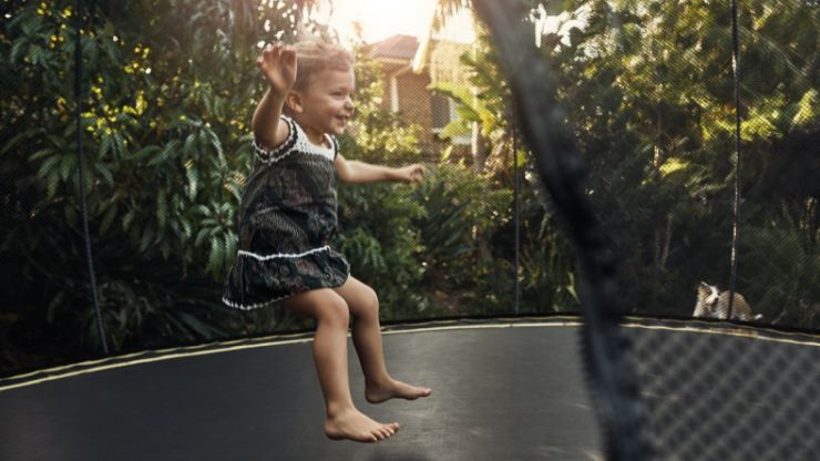 Experts warn children under six should never be allowed on a trampoline