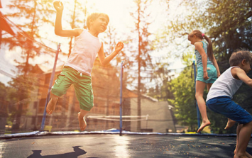 If you have a child this age, you should not allow them on a trampoline