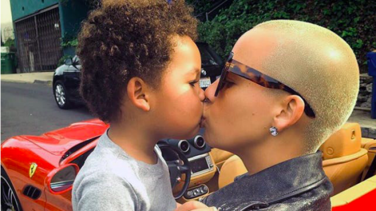 Amber Rose explains why she dyed her 4-year-old son's hair blonde