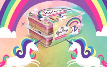 Mr Kipling has just released unicorn slices and they look absolutely delicious