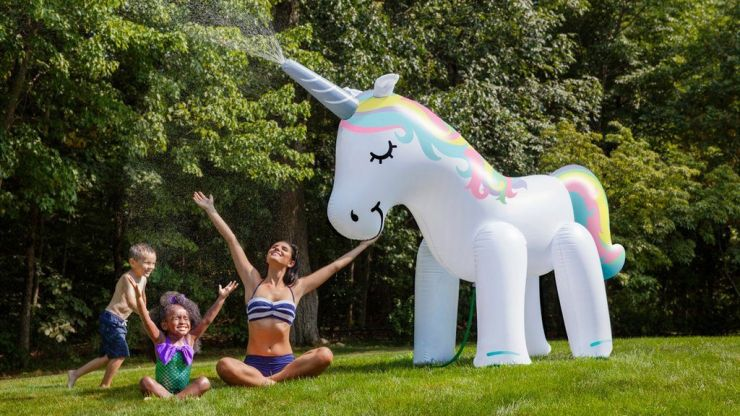 This giant unicorn sprinkler will make this summer the best one ever