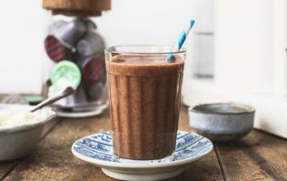 This healthy coffee chia seed smoothie is the perfect on-the-go breakfast