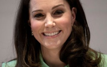 Kate Middleton's mint green coat is the perfect maternity cape