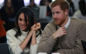 Meghan got a fright watching a car race yesterday and Harry's reaction is honestly priceless