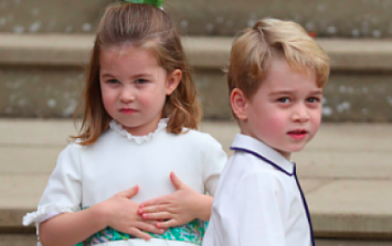 Prince George is being VERY bold at the royal wedding and we can't stop laughing