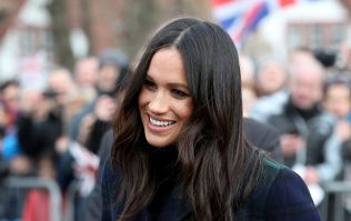Meghan Markle is wearing a LOT of colour today and it really suits her