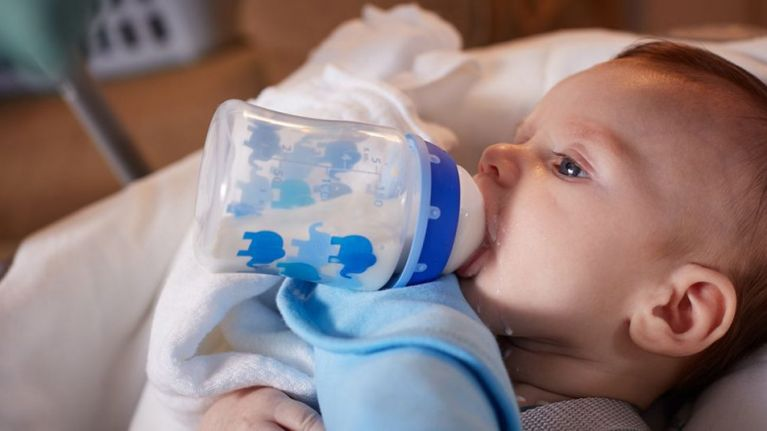 This is why you should never prop a bottle up for your baby to drink it