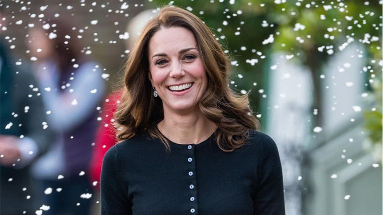 We just found a dupe of Kate Middleton's skirt in H&M for 40 quid