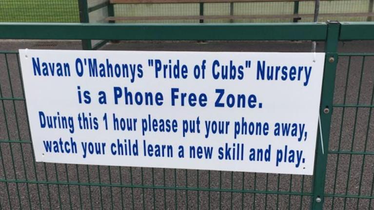 Navan GAA club bans parents from using phones on the sidelines