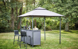 Run! This Argos gazebo with a built-in bar has just been reduced