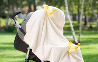 Heatwave: Here is why you should NEVER drape a blanket over your child's stroller