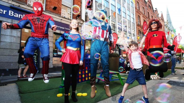 Superheroes take over Dublin this July and August with lots of free events