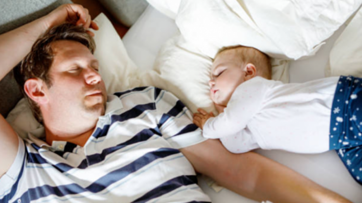 Study says that dads get more sleep than mums and tell us something we don't know
