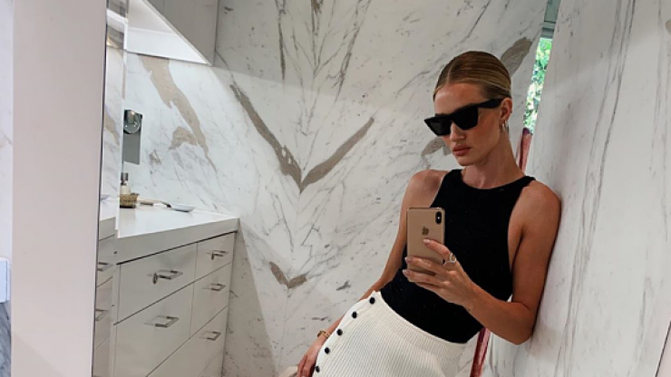 Rosie Huntington-Whiteley is a huge fan of this gorgeous €13 Zara bodysuit