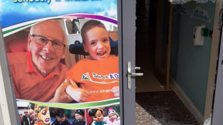 Children's charity 'Share A Dream' share shocking photos of vandalisation