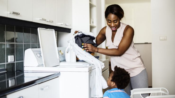 There is a perfect way to keep on top of your family's laundry, says this organisation expert