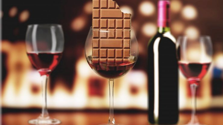 Research finds that red wine and chocolate contain anti-aging properties