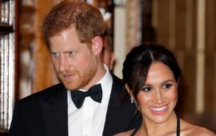 This video captures Prince Harry and Meghan Markle's adorable PDA last night