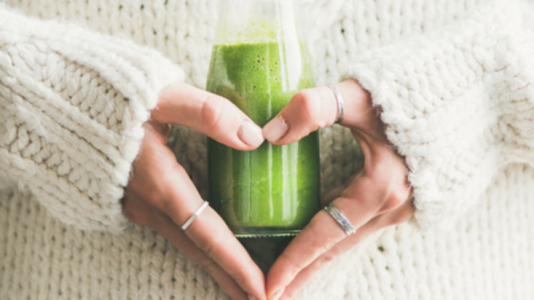 This is the quickest, easiest smoothie you'll ever make and it's DELICIOUS