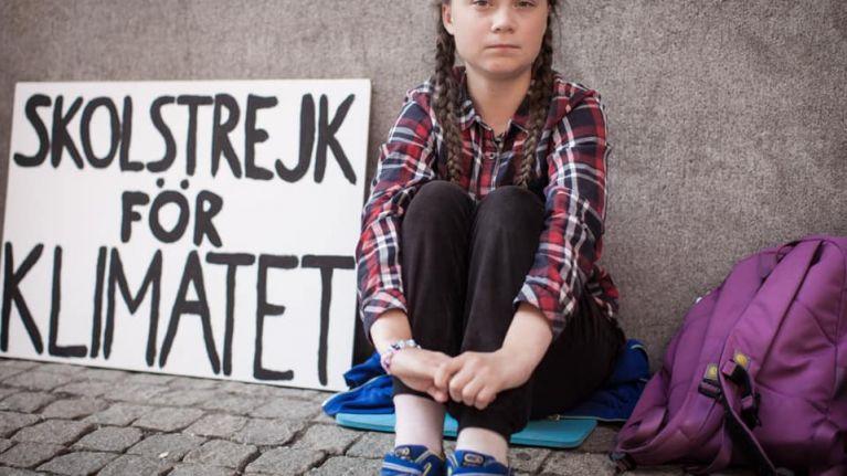 Irish children continue 'school strikes' today in support of Greta Thunberg