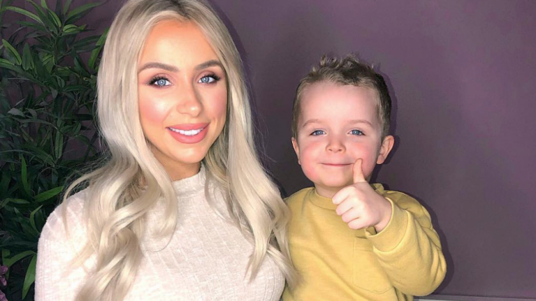 'He blew us away': Rosie Connolly on introducing son Harry to her newborn