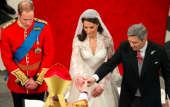 Prince William had a thoughtful comment for Kate's dad after he walked his daughter up the aisle