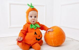 Here's a great way to turn pumpkin carving into a beautiful baby momento