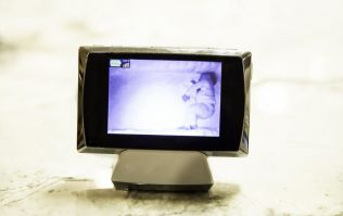 Mum thinks she spots ghost on baby monitor but it was actually part of the crib