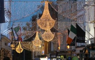 Twitter had one problem with the Christmas lights being turned on in Dublin last night