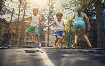 Should children be discouraged from playing on trampolines?